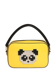 Les Petits Joueurs Roy Metal Panda Leather Shoulder Bag