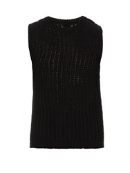 Rick Owens Sleeveless Fisherman Knit Tank Top