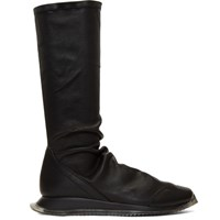 Rick Owens Black Oblique Runner Stocking Sneakers