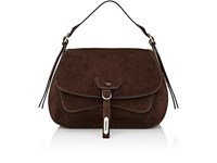 Fontana Milano 1915 Women's Wight Medium Saddle Hobo Bag Dark Brown