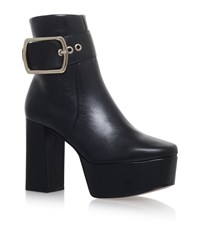 Kurt Geiger Spritz Buckle Ankle Boots Female Black