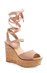 Women's Topshop 'Wise' Platform Wedge Nude