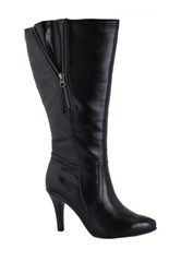 Intaglia Tascosa Wide Calf Dress Boot Black