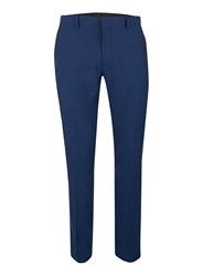 Topman Bright Blue Textured Stretch Skinny Fit Suit Pants