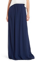 Ceremony By Joanna August Women's 'Whitney' Chiffon Wrap Maxi Skirt Tangled Up In Blue