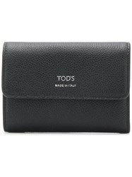 Tod's Foldover Top Wallet Black
