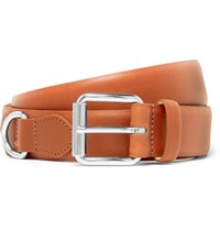 A.P.C. 3Cm Camel Fabien Leather Belt Camel
