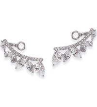 Carat London Tellus White Gold Plated Sterling Silver Earrings