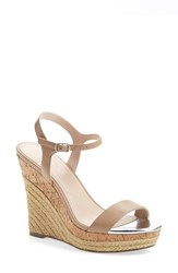Women's Charles By Charles David 'Arizona' Espadrille Wedge Nude Leather