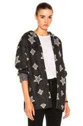 Saint Laurent Oversize Star Sweater In Abstract Black Gray Abstract Black Gray