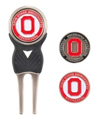 Team Golf Ohio State Buckeyes Divot Tool And Markers Set Team Color