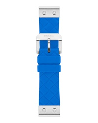 Brera Sport 22Mm Turquoise Woven Silicone Strap Stainless