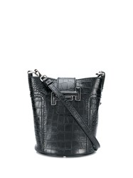 Tod's Small Double T Bucket Bag Black