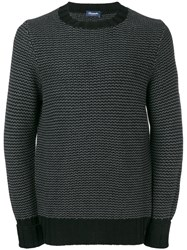 Drumohr Long Sleeve Fitted Sweater Grey