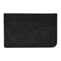 Mcq By Alexander Mcqueen Black Embossed Logo Card Holder