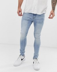 Voi Jeans Super Skinny In Light Wash Blue