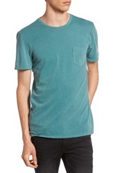 The Rail Men's Garment Washed Pocket T Shirt Green Bistro