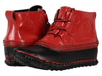 Sorel Out 'N About Rain Burnt Henna Black Women's Rain Boots Red