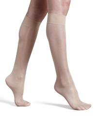 Wolford Satin Touch Knee Highs Black 2 Medium