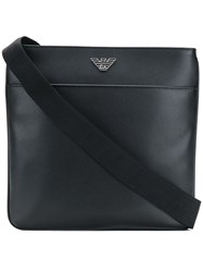Emporio Armani Logo Messenger Bag Black