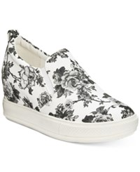 Wanted Petals Wedge Sneakers Women's Shoes White