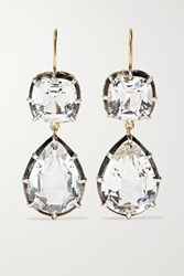 Fred Leighton Collection Silver Topped 18 Karat Gold Topaz Earrings