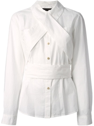 Marc By Marc Jacobs Crisscross Strap Detail Shirt White
