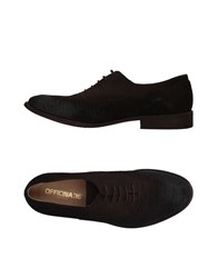 Officina 36 Lace Up Shoes Dark Brown