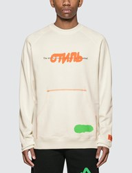 Heron Preston Ctnmb Spray Sweatshirt White