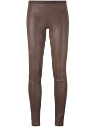 Rick Owens Skinny Leggings Brown