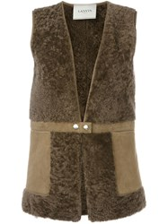 Lanvin Snap Closure Gilet Brown