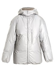 Raey Reflective Hooded Quilted Down Jacket Metallic