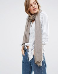 Pieces Long Knitted Scarf Gray