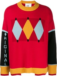 Ballantyne Colour Block Sweater Red
