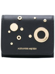 Alexander Mcqueen Eyelet And Stud Coin Purse Leather Black