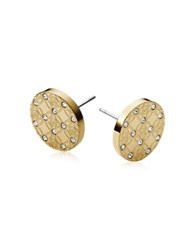Michael Kors Heritage Metal Earrings W Crystals