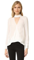 Derek Lam Long Sleeve Blouse With Collar Detail White