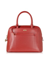 Pinko Catalogna Red Saffiano Leather Handbag