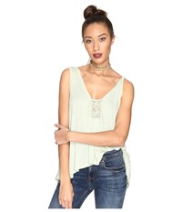 Free People New Vibes Tee Mint Women's Sleeveless Green