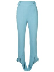 Kitx High Waisted Trousers Blue
