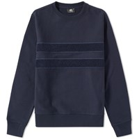 Paul Smith Loopback Tape Crew Sweat Blue