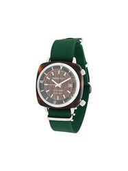 Briston Watches Clubmaster Diver Yachting Acetate Watch Green