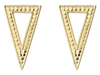 Anna Beck Triangle Post Earrings Sterling Silver 18K Gold Vermeil Earring