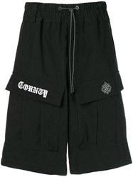 Marcelo Burlon County Of Milan Logo Drawstring Shorts Black
