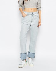 Weekday Mid Rise Loose Unisex Jeans Blue Beat