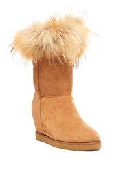Australia Luxe Collective Foxy Genuine Sheepskin Wedge Boot Brown