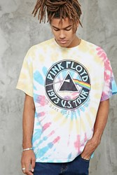 Forever 21 Tie Dye Pink Floyd Band Tee Yellow Black