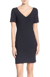 Julia Jordan Women's 'Rio' Jacquard Knit Sheath Dress Black
