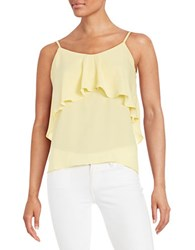 Design Lab Lord And Taylor Ruffled Chiffon Tank Top Yellow