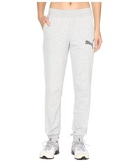 Puma Elevated Cat Sweat Pants Light Gray Heather Women's Casual Pants